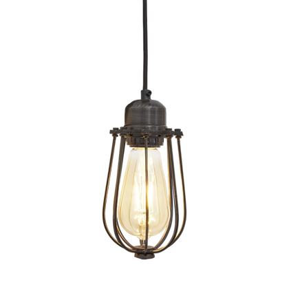 Orlando Wire Cage - 4 Inch Pewter Pendant Light