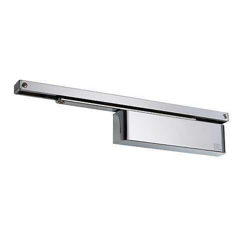 Rutland TS.11204 Polished Nickel Slide Arm Cam Action Overhead Door Closer