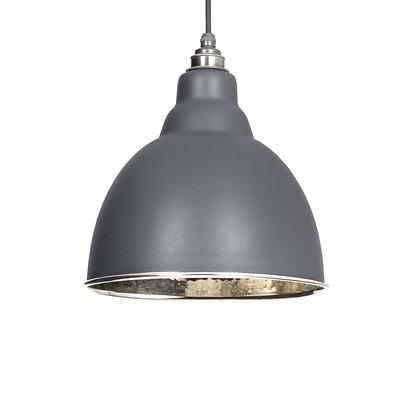From The Anvil Brindley Pendant Dark Grey & Hammered Nickel 49511dg