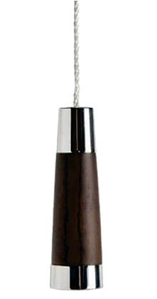 Prima Conical Cord Pull (60mm), Dark Oak & Polished Chrome - M699C