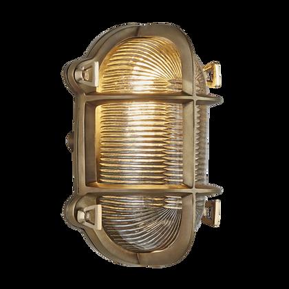 Industville 6 Inch Brass Bulkhead Oval Light