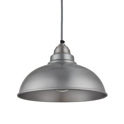 12 Inch Old Factory Pendant Light Pewter