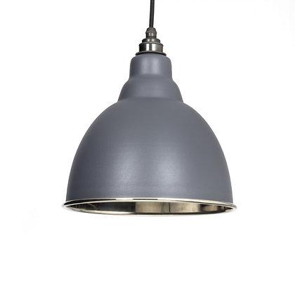 From The Anvil Brindley Pendant Dark Grey & Smooth Nickel 49504dg