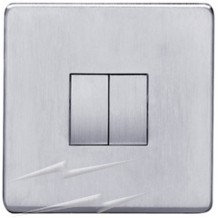Heritage Brass Studio Screwless 2-Gang 2-Way Rocker Switch