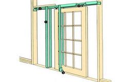 Hideaway Coburn H40 Pocket Door Kit 1067 mm Door Weight 56 kg