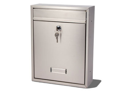 TRENT MAIL BOX (BRUSHED STAINLESS STEEL)