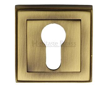 Heritage Brass 'Art Deco Euro Profile' Key Escutcheon DEC7020