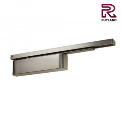 Rutland TS.11204 Satin Nickel Slide Arm Cam Action Overhead Door Closer