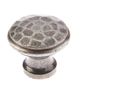 Valley Forge Hammered Cabinet Knob - Pewter