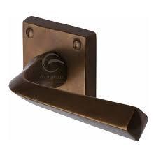 Heritage Brass RBL1953 Donnington Lever Door Handles Solid Rustic Bronze