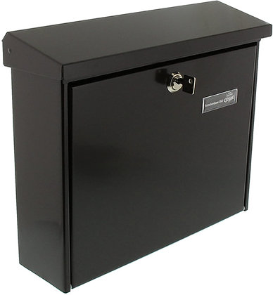 BURG WACHTER Amsterdam Steel Post Box - Black
