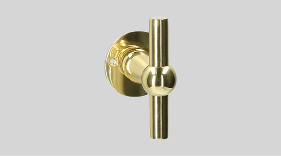 Orno Art. 124 R0-T Polished Brass Lever Door Handles