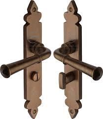 Heritage Brass RBL5830 Ludlow Sold Rustic Bronze Bathroom Door Handl