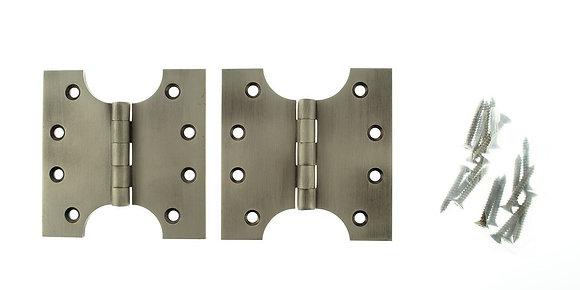 4 x 2 x 4 Inch Matt Gun Metal Atlantic UK Parliament Hinges - APH424