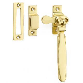 Croft 7018L Art Deco Lockable Casement Fastener MP/HP