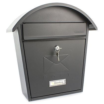 Burg Wachter Classic 2 Matt Black Post Box