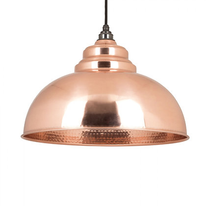 From The Anvil Harborne Pendant Hammered Copper 49501