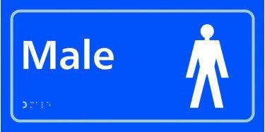 TAKTYLE (BRAILLE) MALE TOILET SIGN
