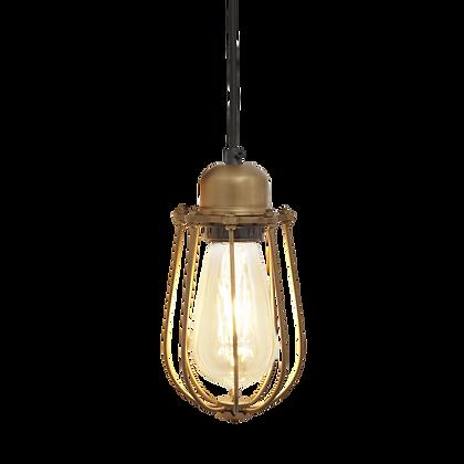 Orlando Wire Cage - 4 Inch Brass Pendant Light