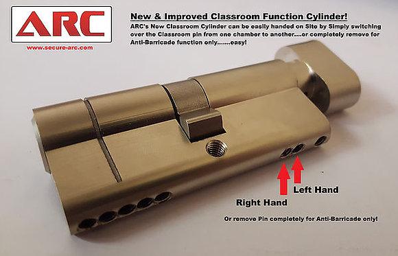 Anti-Barricade / Classroom Euro Cylinder & Turn Master Keyed