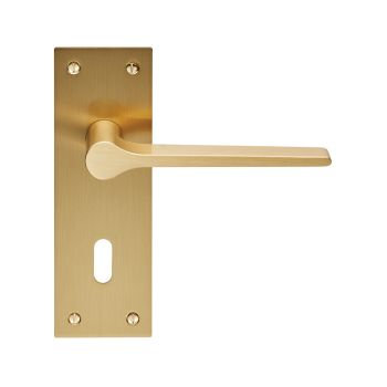 Velino EUL021 Satin Brass Lever Lock Door Handles