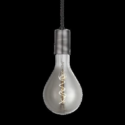 Sleek Large Edison Pendant - 1 Wire Pewter
