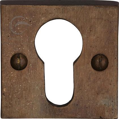 Heritage Brass RBL158 Solid Rustic Bronze Euro Profile Escutcheon