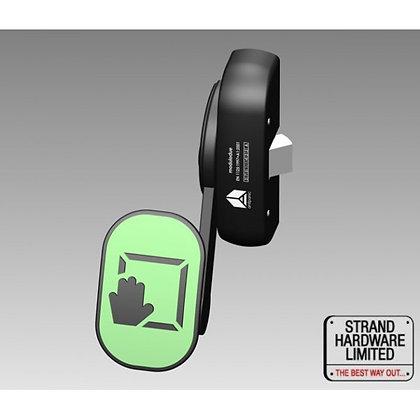 S-PH352-20 STRAND Single Push Pad Latch, Silver