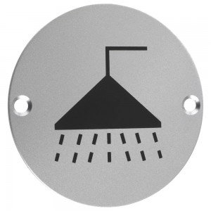 ZSS04 76mm SHOWER PICTOGRAM SATIN ST/STEEL