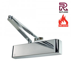 Rutland TS.9206DABC Polished Nickel Overhead Door Closer Size 2 - 6
