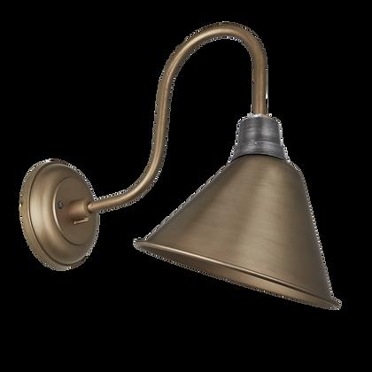 Industville 8 Inch Cone Swan Neck Brass