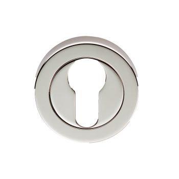 EUL001 Euro Profile Polished Nickel Keyhole Escutcheon