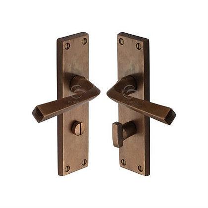 Heritage Brass RBL2530 Bridgnorth Solid Rustic Bronze Bathroom Door Handles