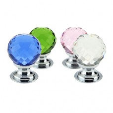 FCH03 Facetted Glass Cabinet Knob 25mm