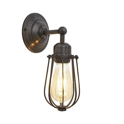 Orlando Wire Cage - 4 Inch Pewter Wall Light