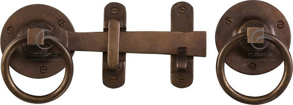 Heritage Brass RBL541 Solid Rustic Bronze Ring Handle Gate Latch Set