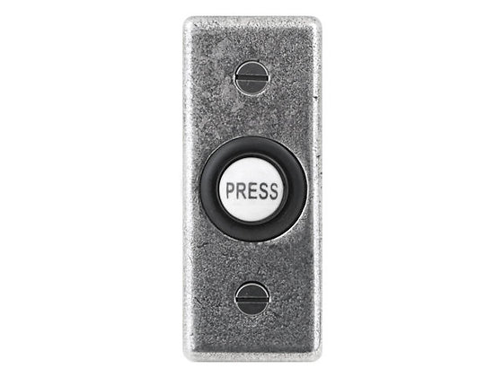 FD BP02 Genuine Pewter Bell Push - Rectangle