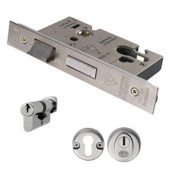 Eurospec ESB5025/CT 64mm BS Cylinder & Turn Sashlock
