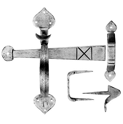 Carlisle Brass Ludlow Foundries Gothic Thumb-Latch, Pewter Finish - PE5535