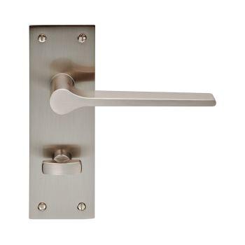 Velino EUL023 Satin Nickel Bathroom Lever Door Handles