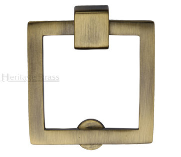 Heritage Brass Square Drop Cabinet Pull