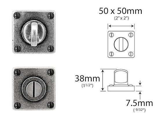 FD066 Pewter Bathroom turn-release 'JESMOND' range