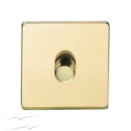 1 Gang 2 Way Push On/Off Dimmer Switch 400W Screwless