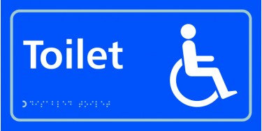 TAKTYLE (BRAILLE) DISABLED TOILET SIGN