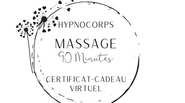 Certificat-cadeau massage (90 minutes)