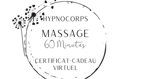 Certificat-cadeau massage (60 minutes)