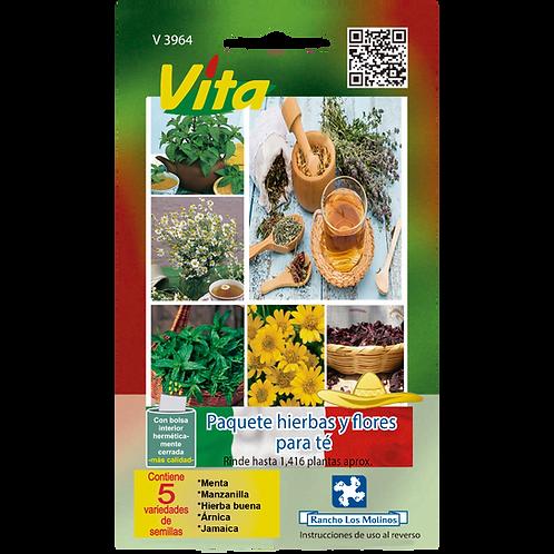 Paquete hierbas y flores para té