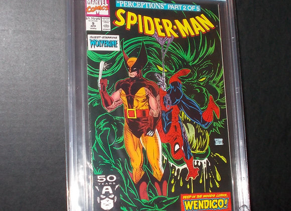 Spider-Man #9 (1991) Graded a 8.0 by CBCS