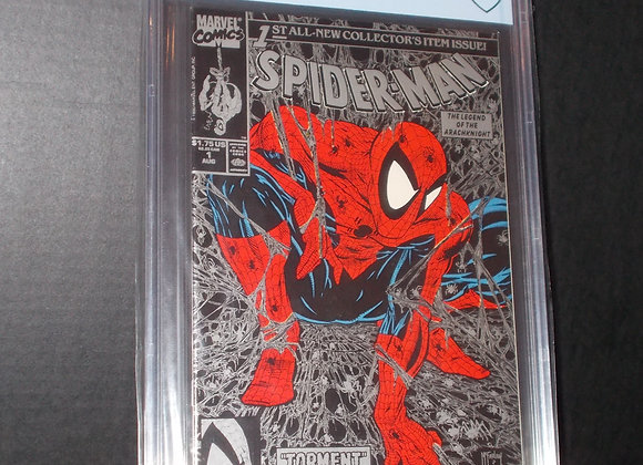 Spider-Man #1 Silver Edition (1990) Graded a 9.8 by CBCS