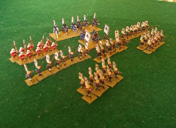 65 painted 15mm Peter Pig Models- Todayoshi Samurai Clan (1600AD)